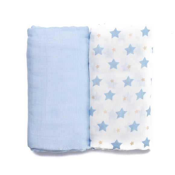 Boy Blue Muslin Set