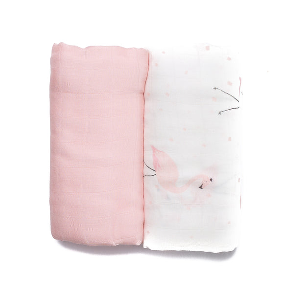 Fancy Flamingo Muslin Set