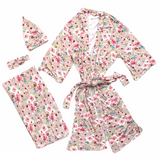 Bamboo Maternity Robe Set (Rose)