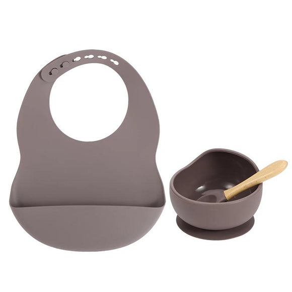 Silicone Feeding Set (Grey)