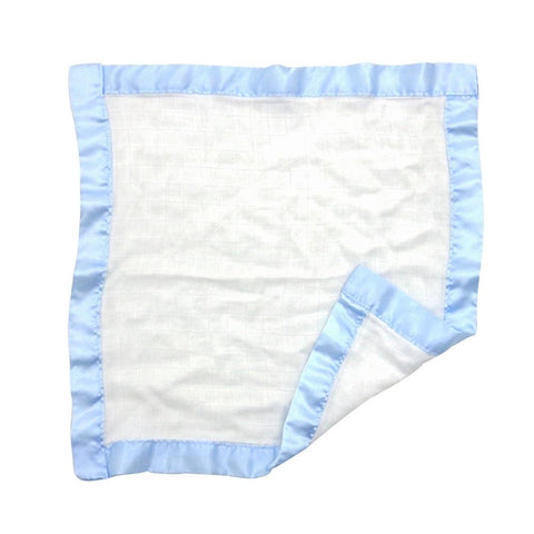 Large muslin comforter in blue  (pack of two)