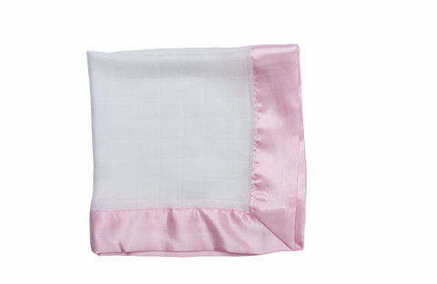 Large muslin comforters in pink  (pack of two)