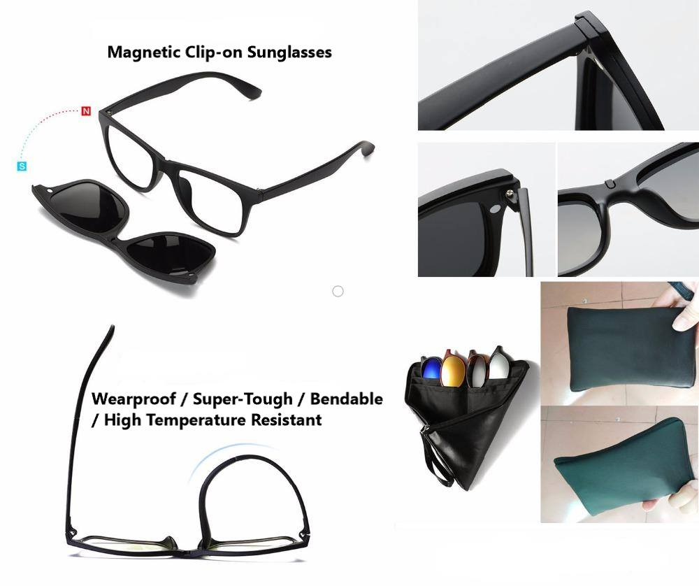 2917e0a2b97 5-in-1 Magnetic Lens Swappable Sunglasses – iHeartGizmos