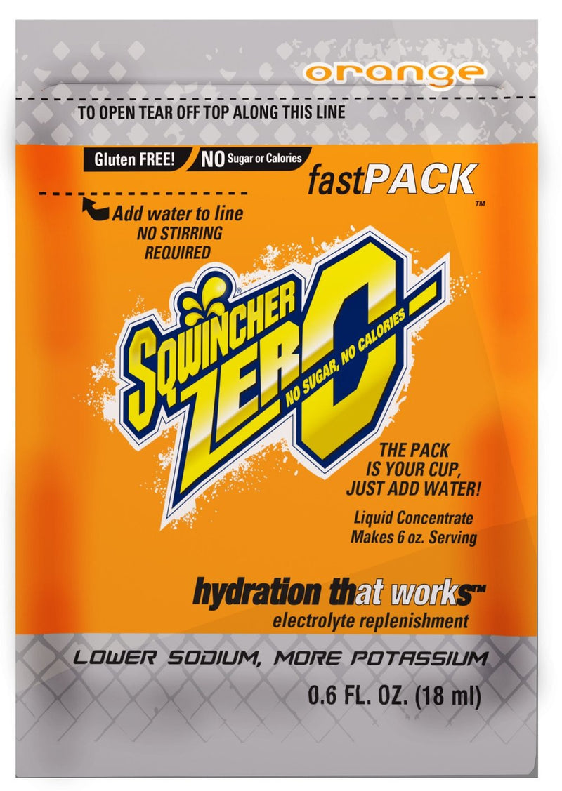 Sqwincher FastPack® Zero Orange, Box of 50 6 oz Individual Packs