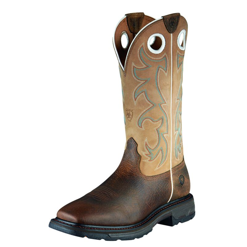 Ariat Men's WorkHog Wide Square Toe Tall Steel Toe Work Boot