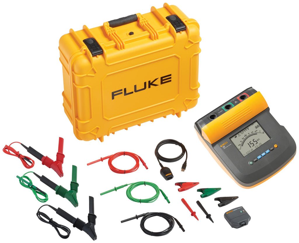 Fluke 1555 FC 10 kV Insulation Tester Kit with IR 3000FC 1550 Connector