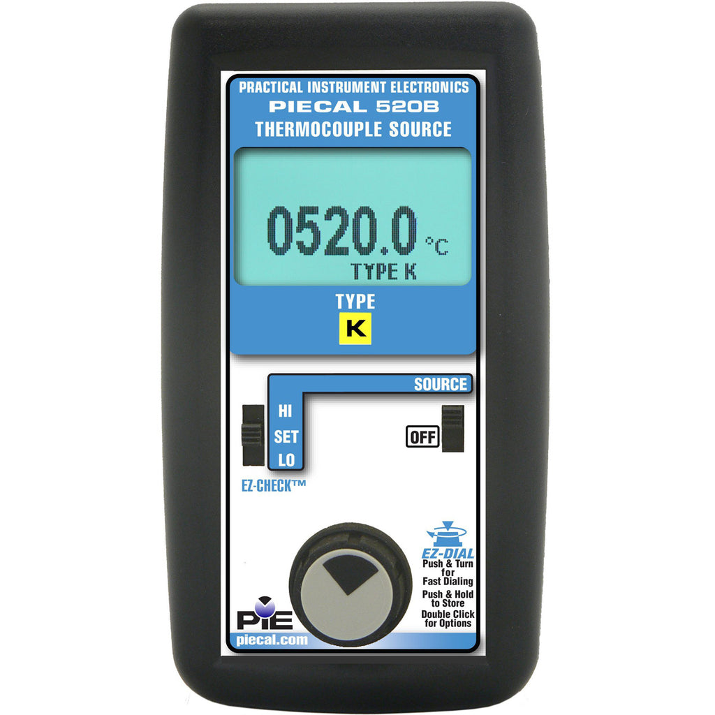 PIE 520B Single-Type Thermocouple Calibrator