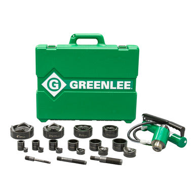 "Greenlee 11-Ton Hydraulic Knockout Kit with Hand Pump and Standard Round 1/2"" - 4"""