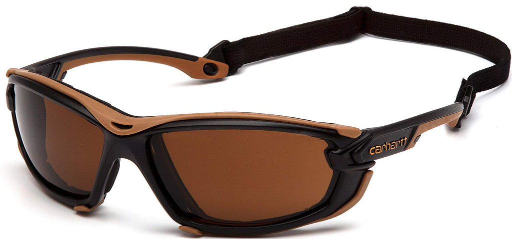Sandstone Bronze H2MAX Anti-Fog Lenses with Black/Tan Frame