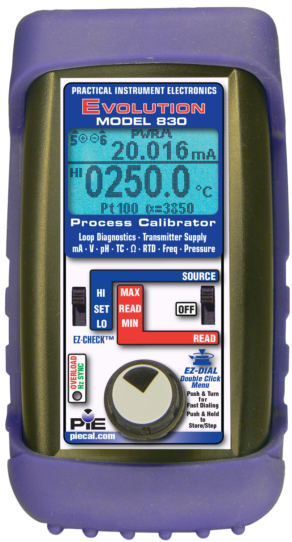 PIE 830 Multifunction Dual Channel Process Calibrator