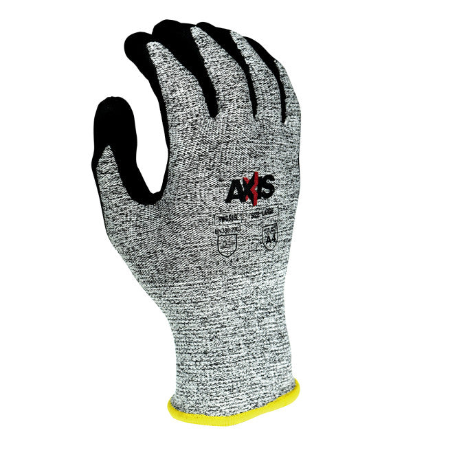 Radians Axis Cut Protection Level A4 Work Gloves, Salt and Pepper