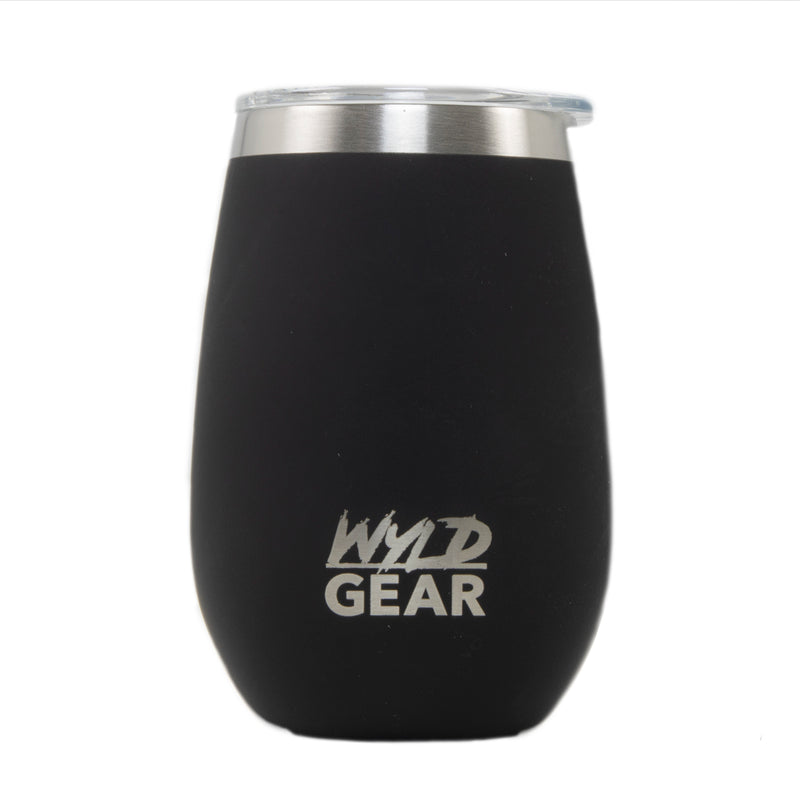 Wyld Wine Insulated Whiskey Wine Tumbler with Interchangeable Lid