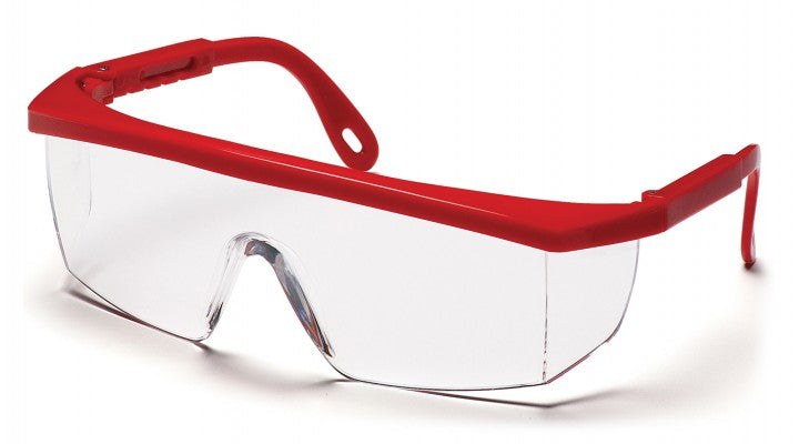 Clear Lenses with Red Frame