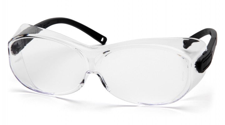 Clear Lenses with Black Temples