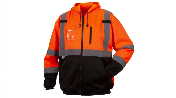 Orange Class 3 Premium Zipper Sweatshirt