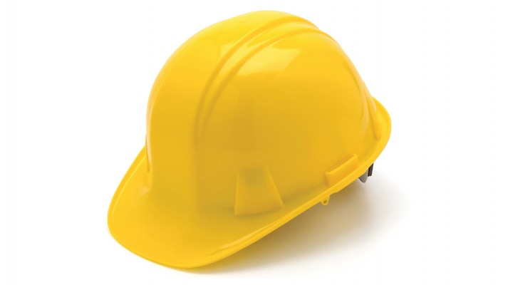 Standard Shell 6-Pt Snap-Lock Suspension Hard Hat - Yellow
