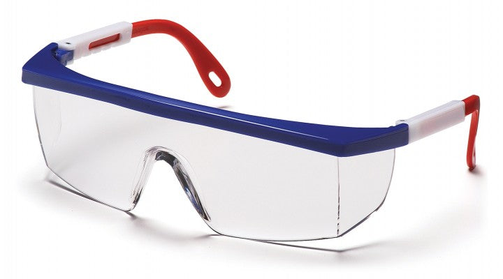 Clear Lenses with Red/White/Blue Frame