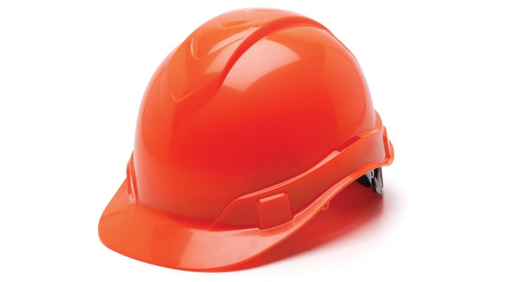 Ridgeline Cap-Style 4-Pt Ratchet Suspension Hard Hat - Hi-Vis Orange