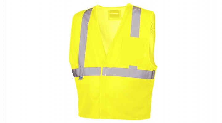 Hi-Vis Lime Safety Vest with 5-point D-ring