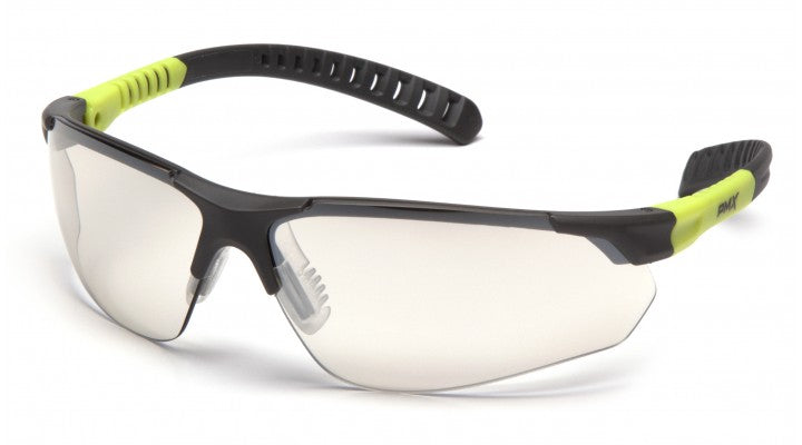 Indoor/Outdoor Mirror Lenses with Gray/Lime Frame