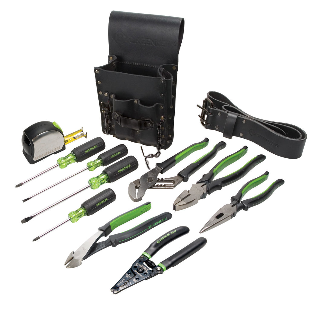 Greenlee Electrician's 12 Piece Tool Kit