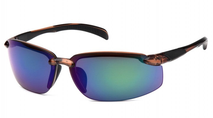 Multi-Color Mirror Lenses with Brown Frame