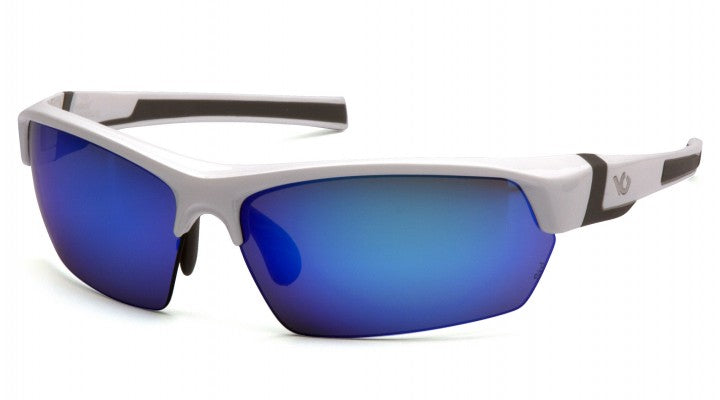 Ice Blue Mirror Anti-Fog Lenses with White/Gray Frame