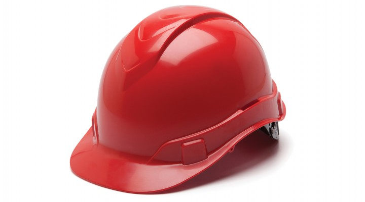 Cap-Style 4 Pt Ratchet Suspension Hard Hat  - Red