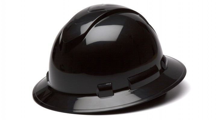 Ridgeline Full-Brim 4-Pt Ratchet Suspension Hard Hat - Black