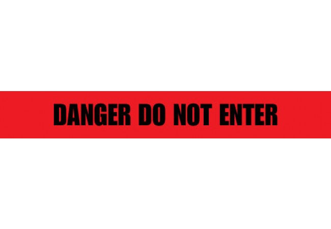 1102-04 DANGER DO NOT ENTER Red 2.0 mil Tape 1000ft Roll