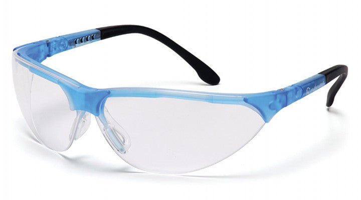 Clear Lenses with Crystal Blue Frame