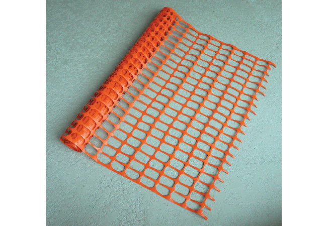 "1400 Orange Barrier Fencing 1.5"" x 3.5"" Rectangular Opening"