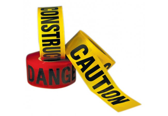 1100-02 CAUTION DO NOT ENTER Yellow 2.5 mil Tape Roll