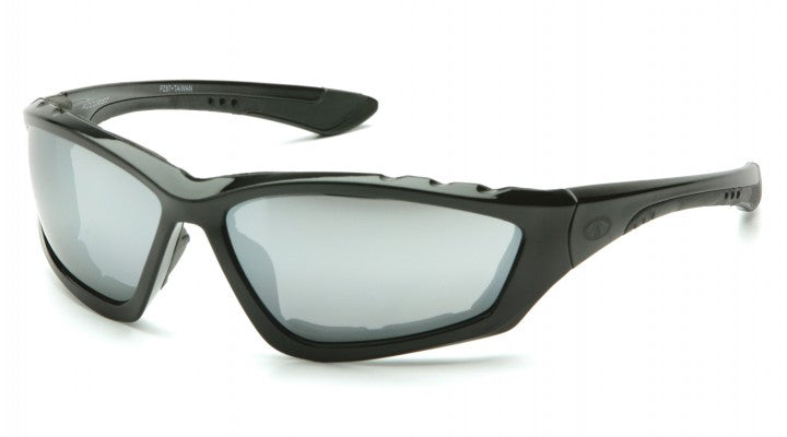 Silver Mirror Lenses with Black Padded Frame