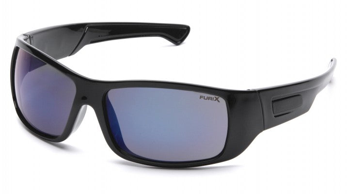 Blue Mirror Anti-Fog Lenses with Black Frame