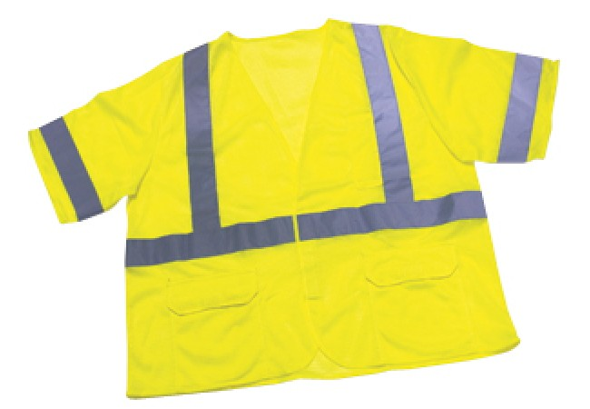 1294FR-L Mesh Class 3 Lime Reflective Safety Vest
