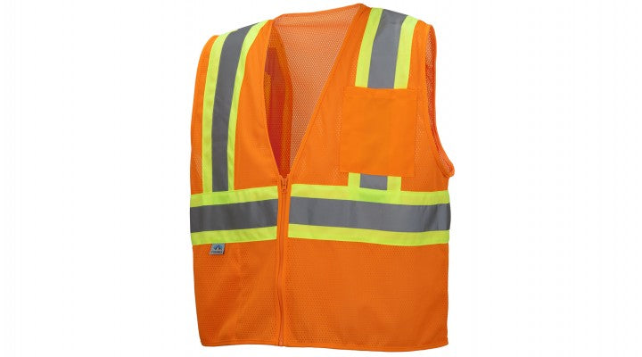 Hi-Vis Orange Safety Vest