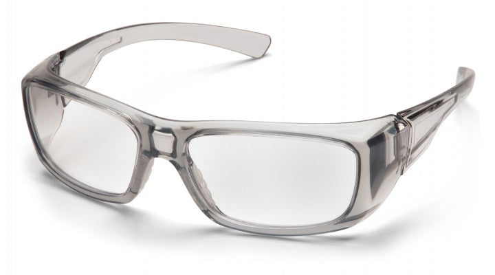 Clear + 2.0 Reader Lenses with Gray Frame