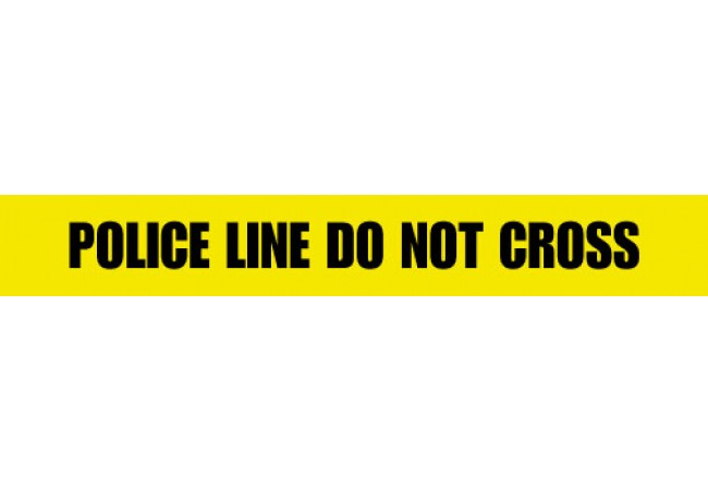1100-03 POLICE LINE DO NOT CROSS Yellow 2.5 mil Tape 1000ft Roll