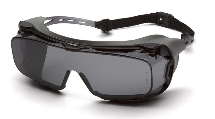Gray H2X Anti-Fog Lenses with Gray with Rubber Gasket Temples