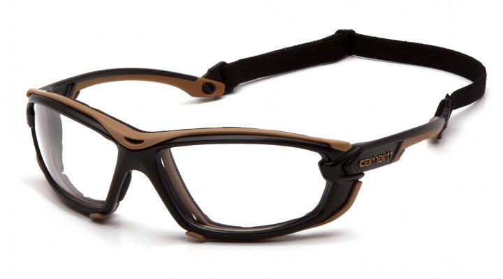Clear H2MAX Anti-Fog Lenses with Black/Tan Frame