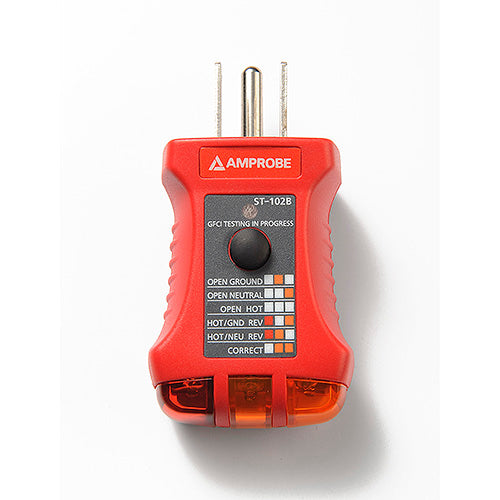 Amprobe ST-102B Receptacle Tester with GFCI