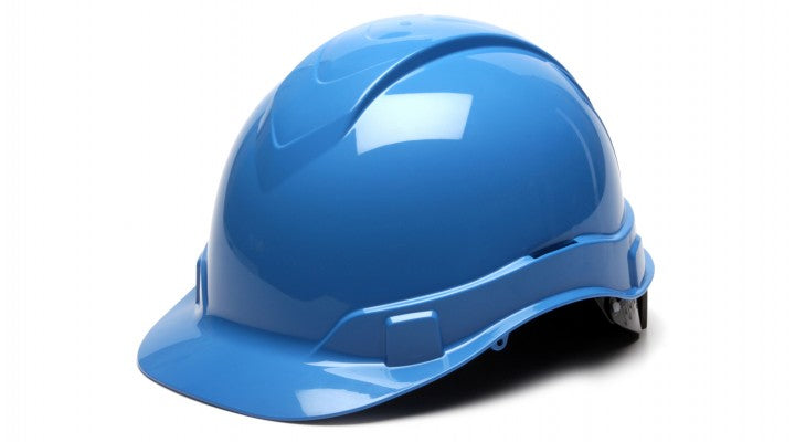 Ridgeline Cap-Style 4-Pt Ratchet Suspension Hard Hat - Light Blue