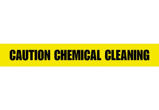 1100-06 CAUTION CHEMICAL CLEANING Yellow 2.5 mil Tape 1000ft Roll