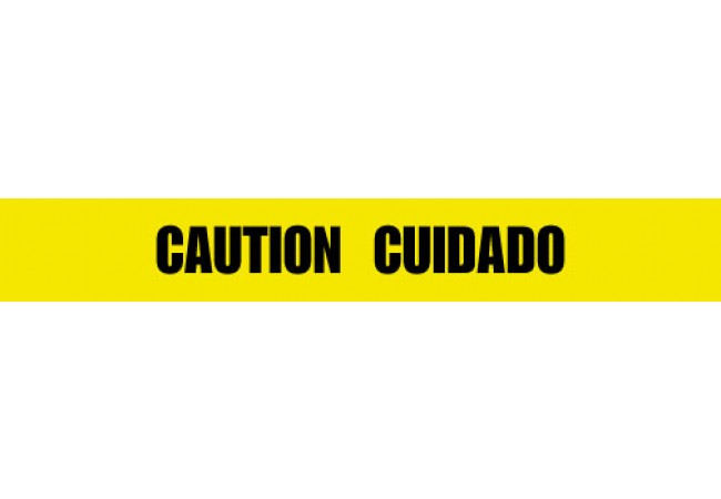 1102-06 CAUTION CUIDADO Yellow 2.0 mil Tape 1000ft Roll