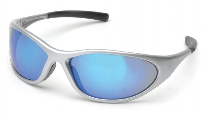 Ice Blue Mirror Lenses with Silver Frame