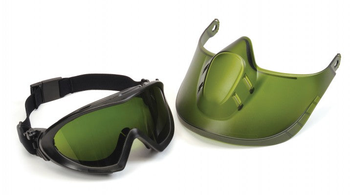Capstone Direct/Indirect Goggle w/ IR3 Lens & Green Tinted Faceshield Attachment