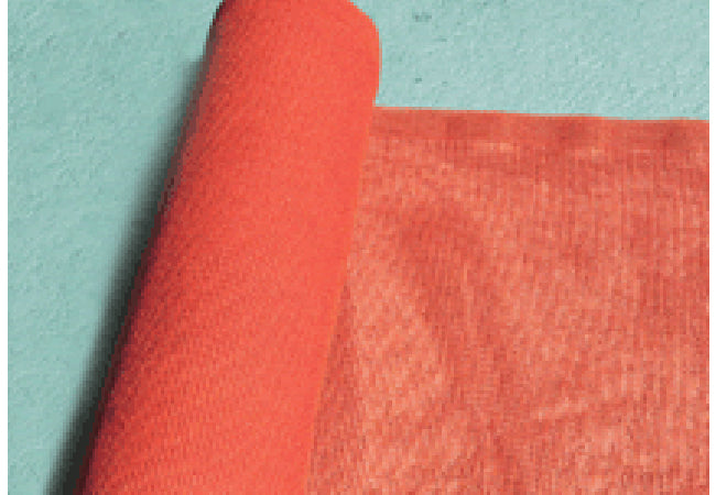 "1450 Orange Barrier Debris Netting, UV & Flame Resistant 48"" x 100' Roll"