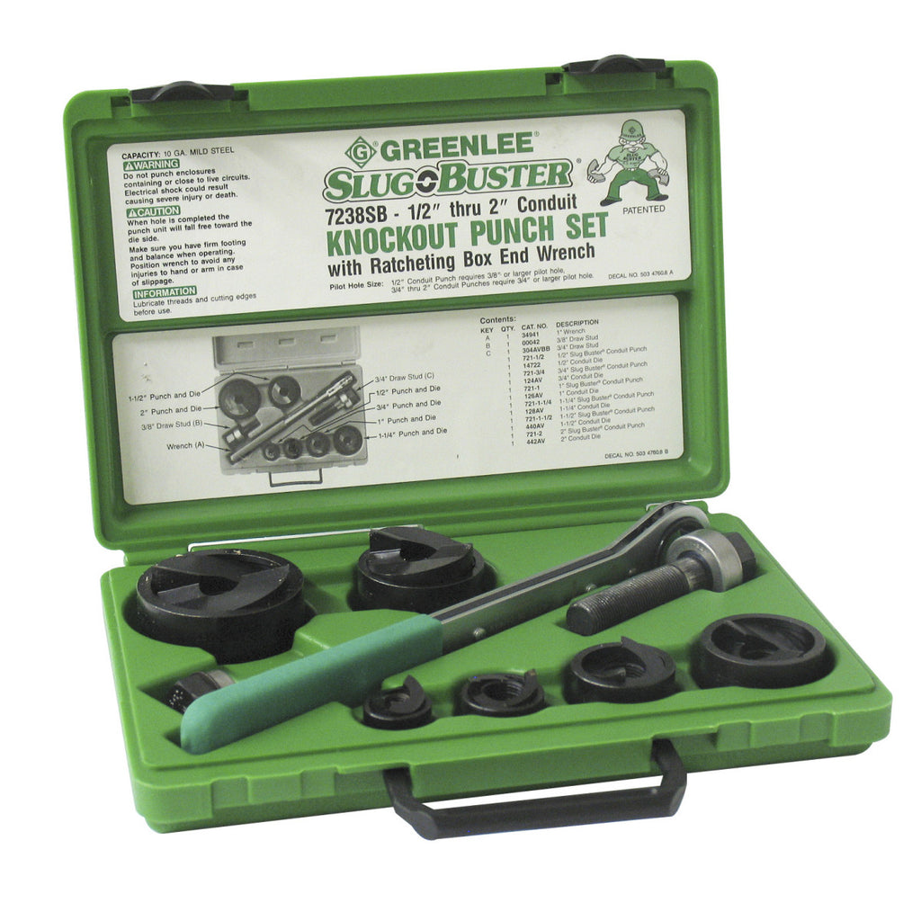 "PUNCH & DIE SET-1/2""-2""SLUG BUSTER"