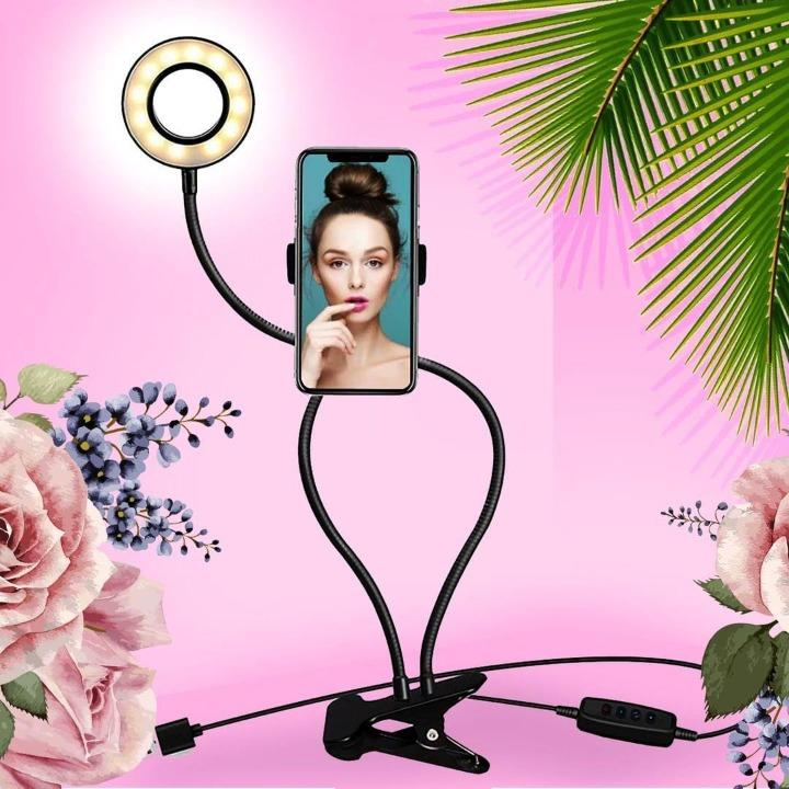 Selfie Studio™ Light With Phone Holder Aura Life Shop